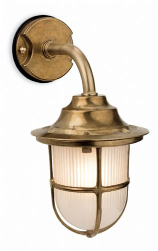 Firstlight 7660BR Brass with Frosted Glass Nautic Wall Light